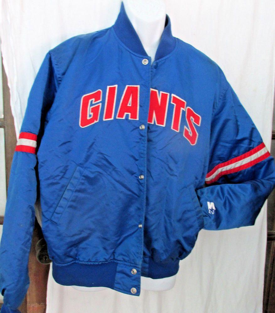 Mens new york giants nfl football starter blue satin