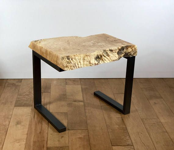 This One Of A Kind Live Edge Wood Table Is Handcrafted From A
