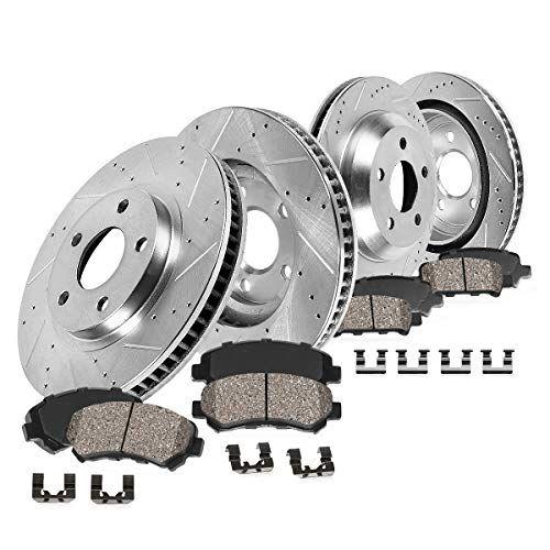 Front 336 mm Drilled /& Slotted Brake Rotors for Dodge DURAGO RAM 1500 CHRYSLER