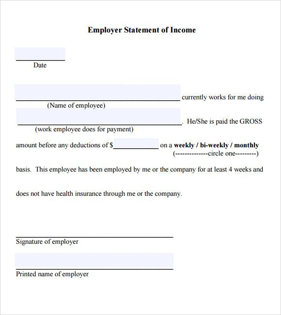 Example Employment Verification Letter Income  Printables