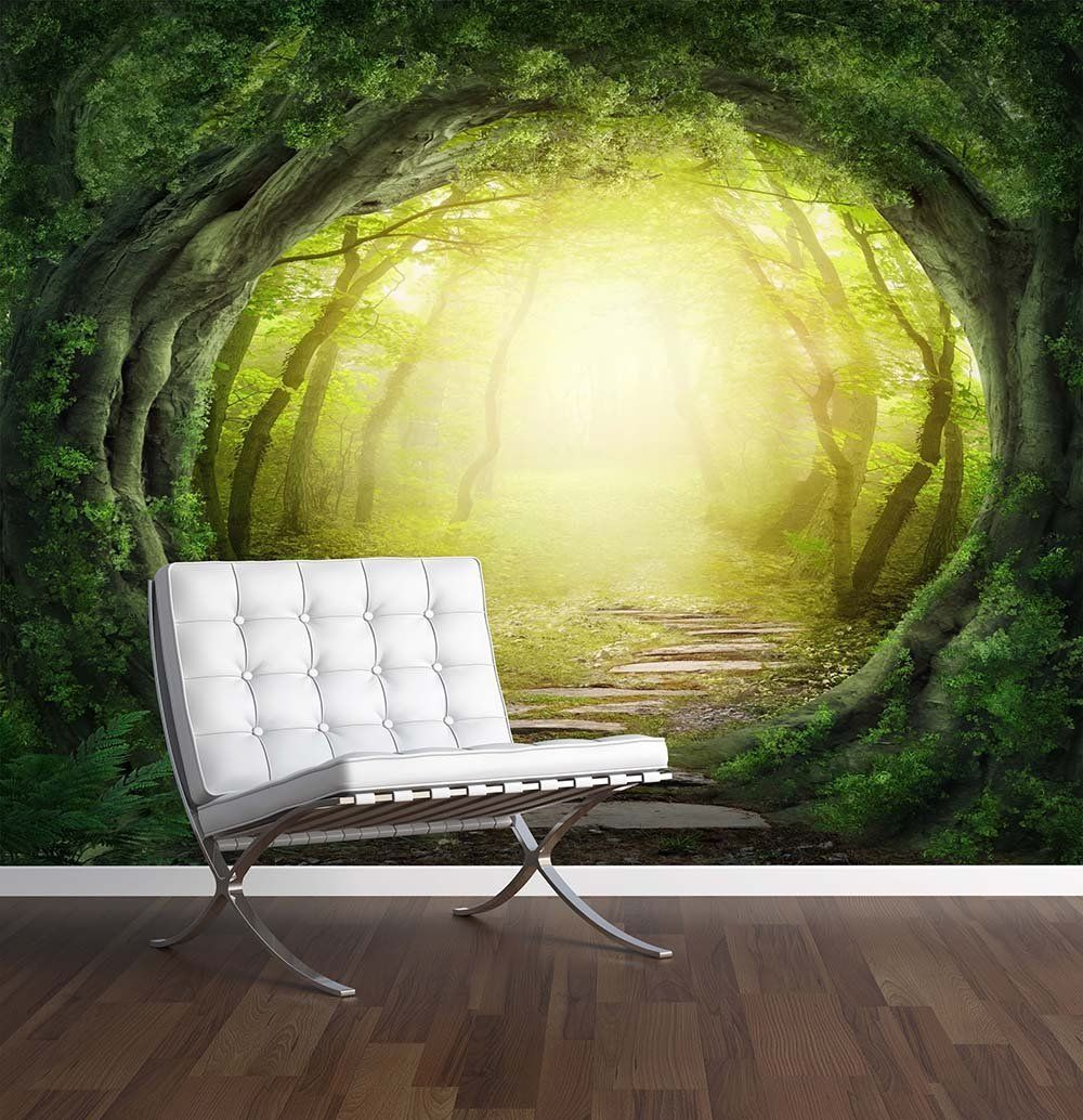 Enchanted Forest Wall Mural Photo Wallpaper Magic Fantasy World
