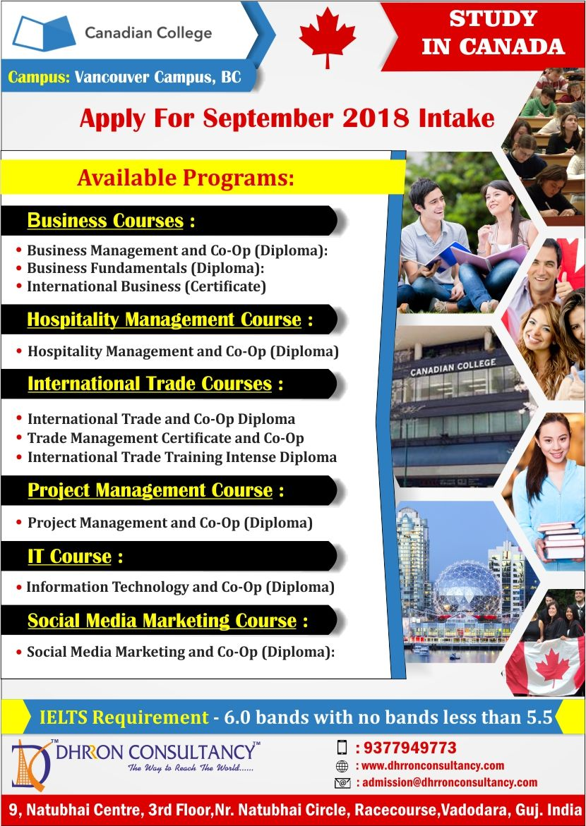 Do You Want To Study In Canada Apply In Canadian College For