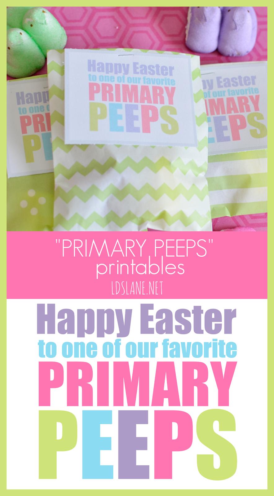 LDS Primary Peeps Printables by LDSLane.net | Primary | Pinterest ...