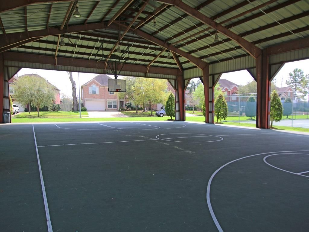 1214 Oak Canyon Ln Richmond Tx 77469 Outdoor Basketball Court Home Basketball Court Home Gym Design