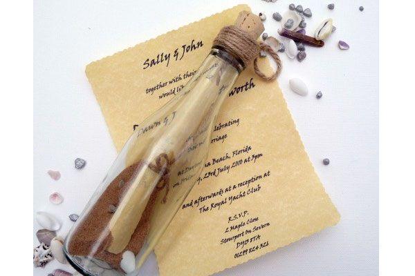 Partecipazioni Matrimonio Bottiglia.Originali Partecipazioni In Bottiglia Messaggio In Bottiglia