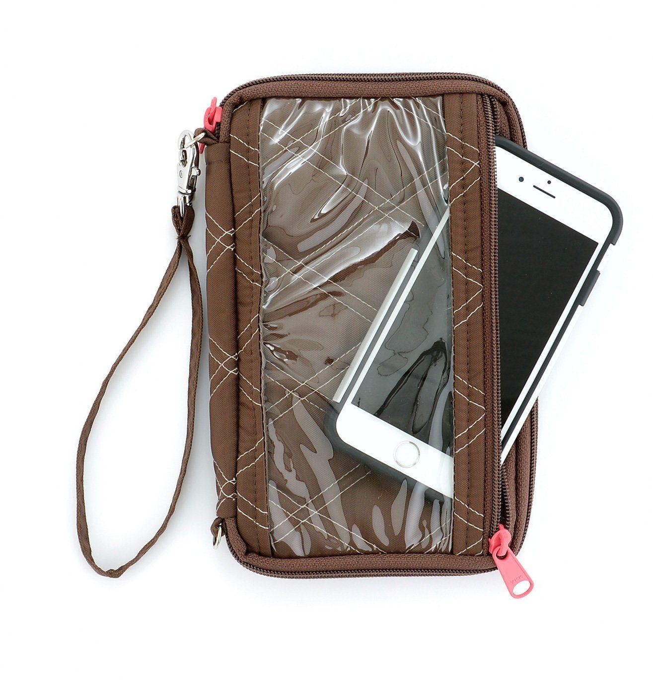 64f9d57b7 Lake 33 Womens Touch Screen Smartphone Soft Wristlet Zipper Wallet Organizer  Purse Small Clutch Case Bag