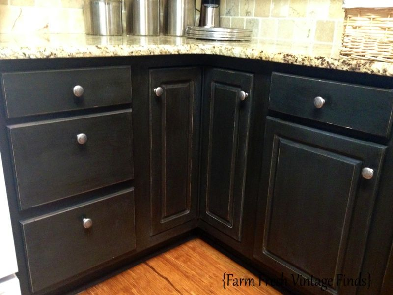 Painting Thermofoil Cabinets With Annie Sloan The Reveal   Farm Fresh  Vintage Finds