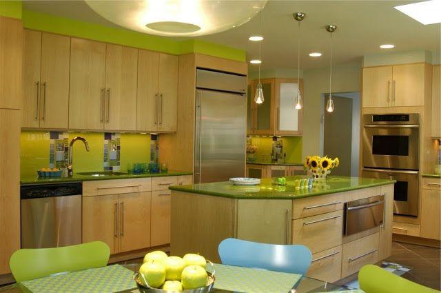 Cocina | VERDE | Pinterest | Baños verdes, Limon y Verde