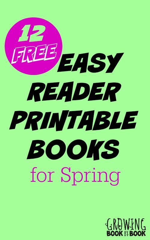 Spring Easy Reader Printable Books For Kids Reading