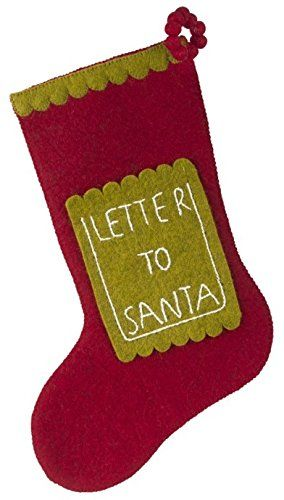 arcadia home sdsd1 letter to santa christmas stocking red be sure to check out this awesome product