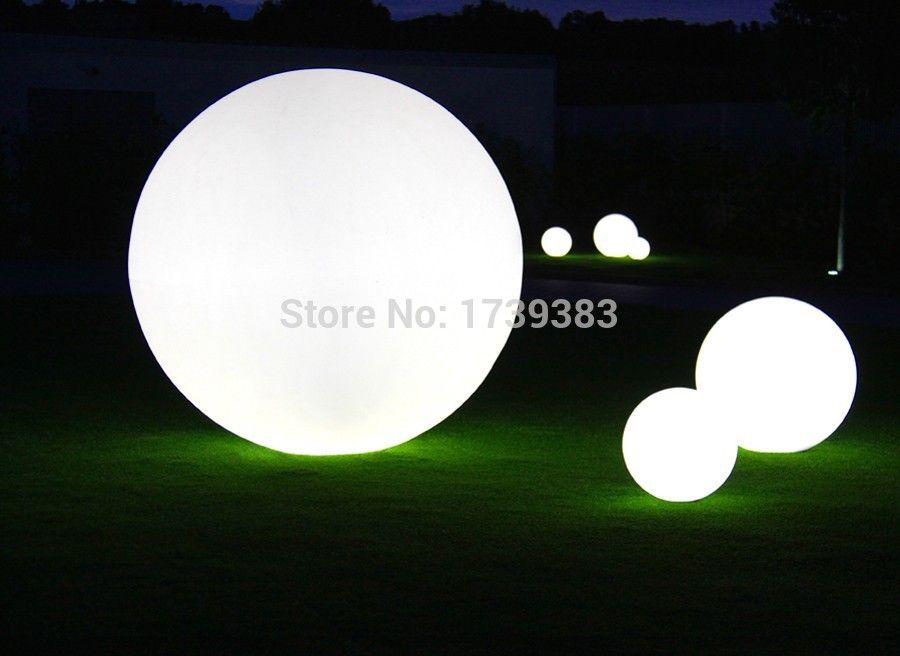 Hot Sale Diameter 50cm Waterproof Led Ball Glowing Plastic Furniture For Indoor Garden Lawn Swimming Pool Pool Decor Globe Lights Swimming Pool Decorations