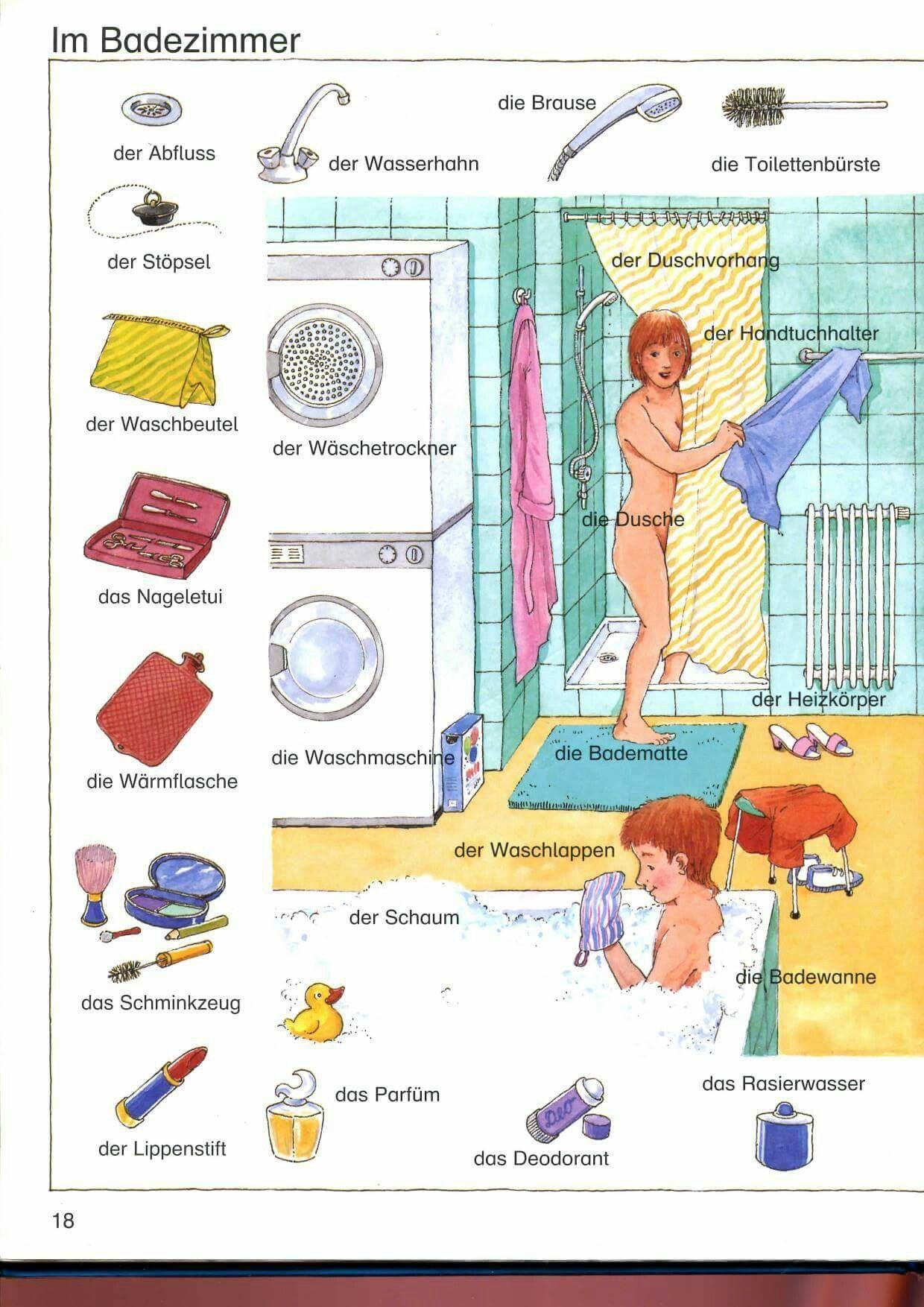 La salle de bain 1 2 allemand 02 vocabulaire - Vocabulaire cuisine allemand ...