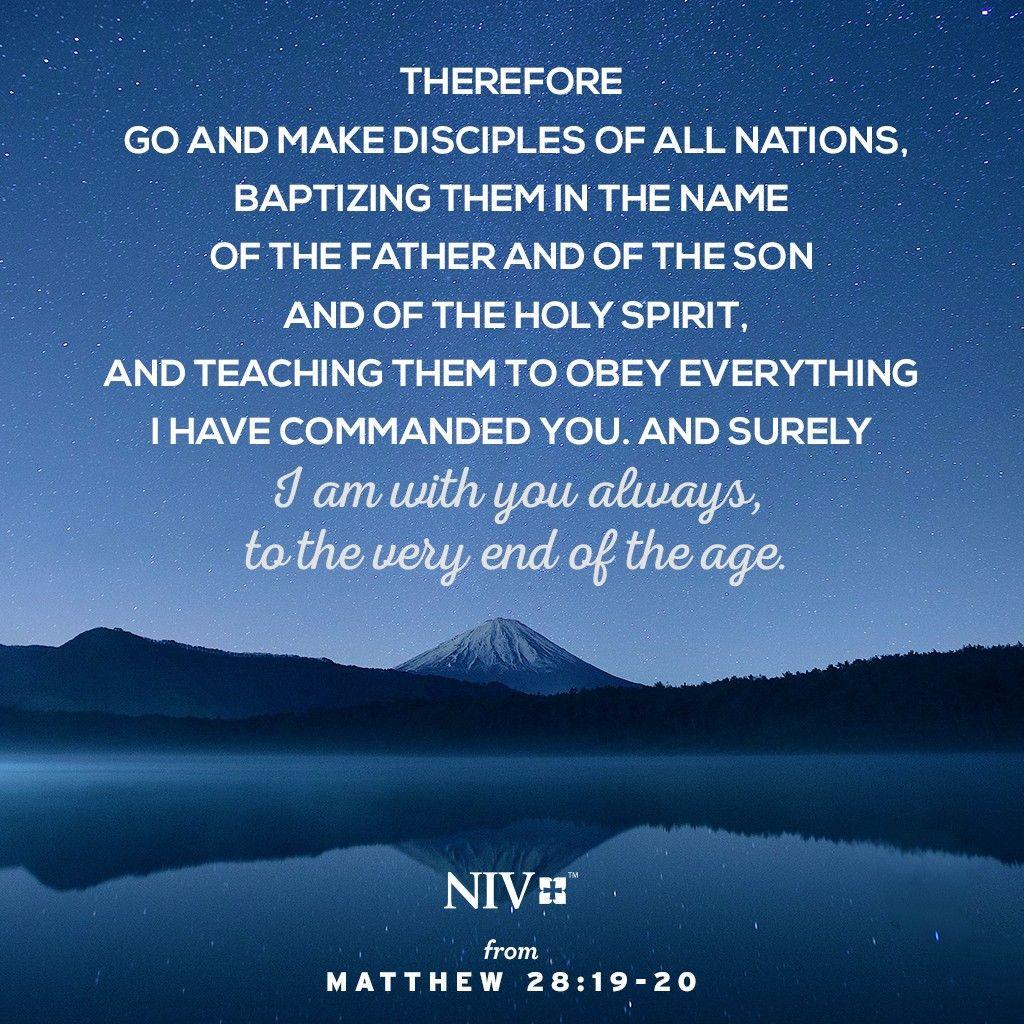 Niv Verse Of The Day Matthew 28 18 20