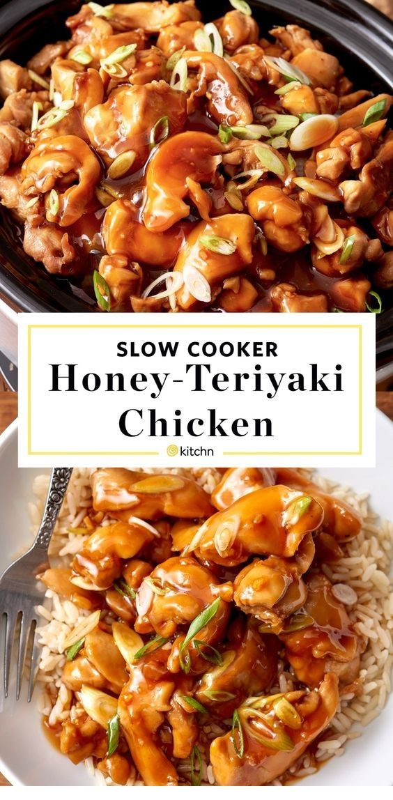 Slow Cooker Honey Teriyaki Chicken  #healthycrockpotchickenrecipes