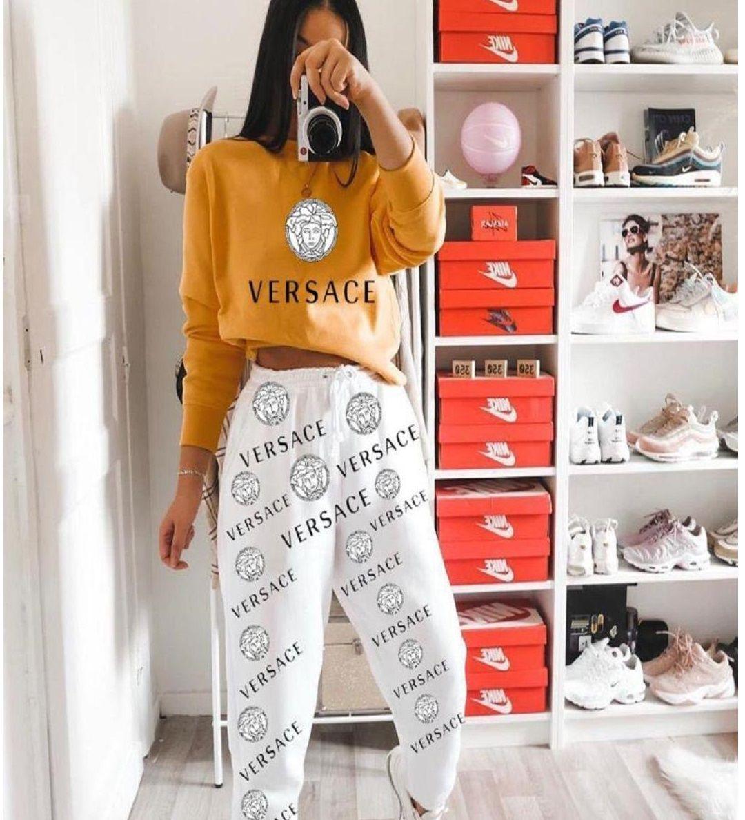 ?model-2665 ?129,90 ₺ ♻Dijital Versace Baskılı ikili Takım ?s m ...