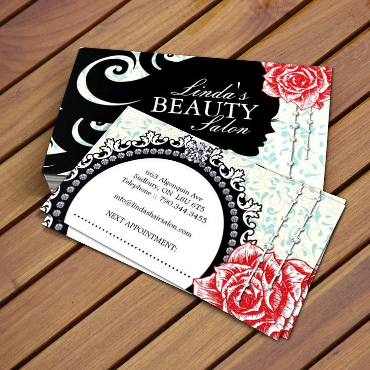 Hair salon business card card templates business cards and salons fully customizable hair salon business card templates created by colourful designs inc wajeb