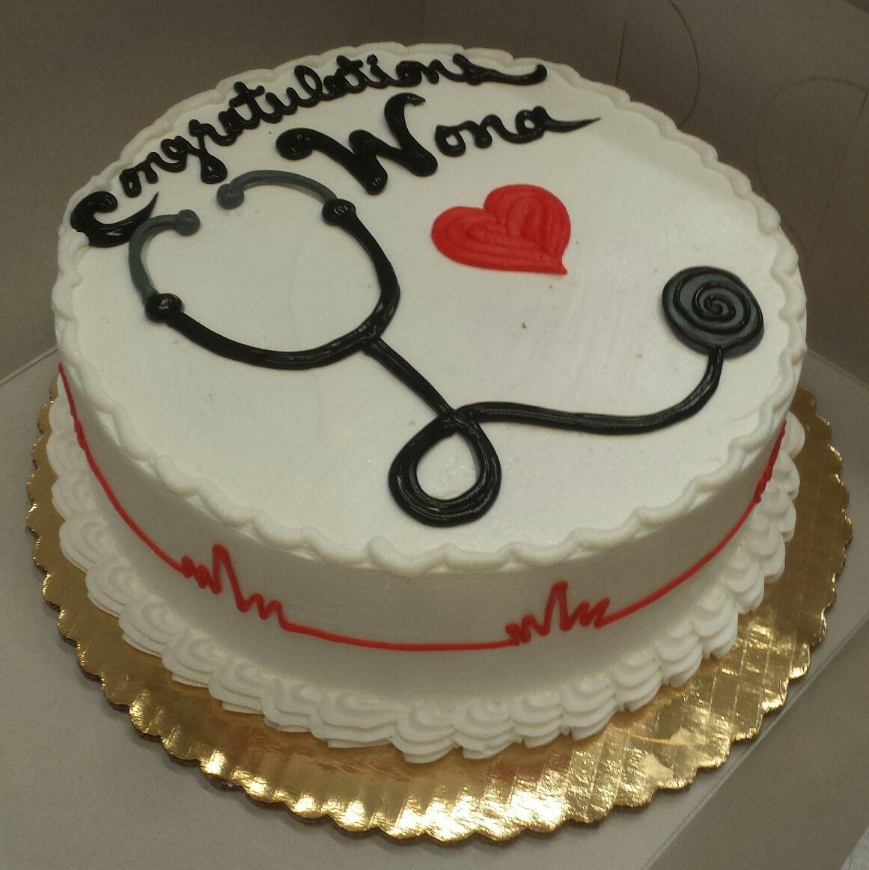 Calumet Bakery Simple Nurse Graduation Cake