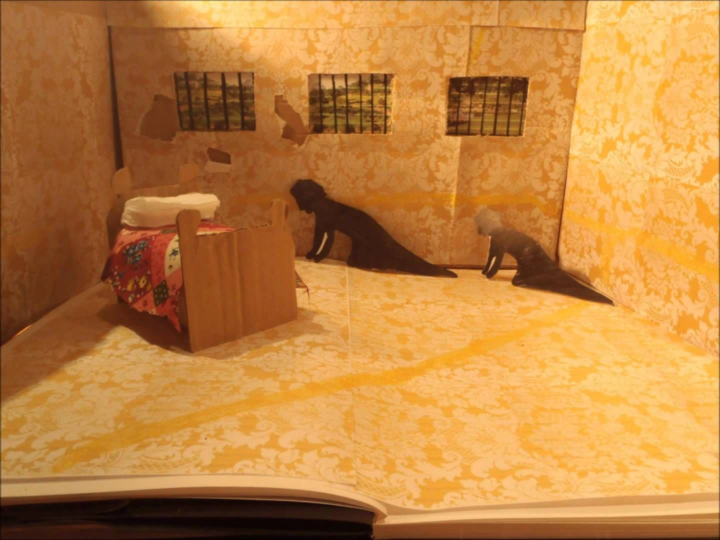 a beautiful eerie video created in stopstart motion it explores  a beautiful eerie video created in stopstart motion it explores and  shows the story of the yellow wallpaper by charlotte perkins gilman  excellent
