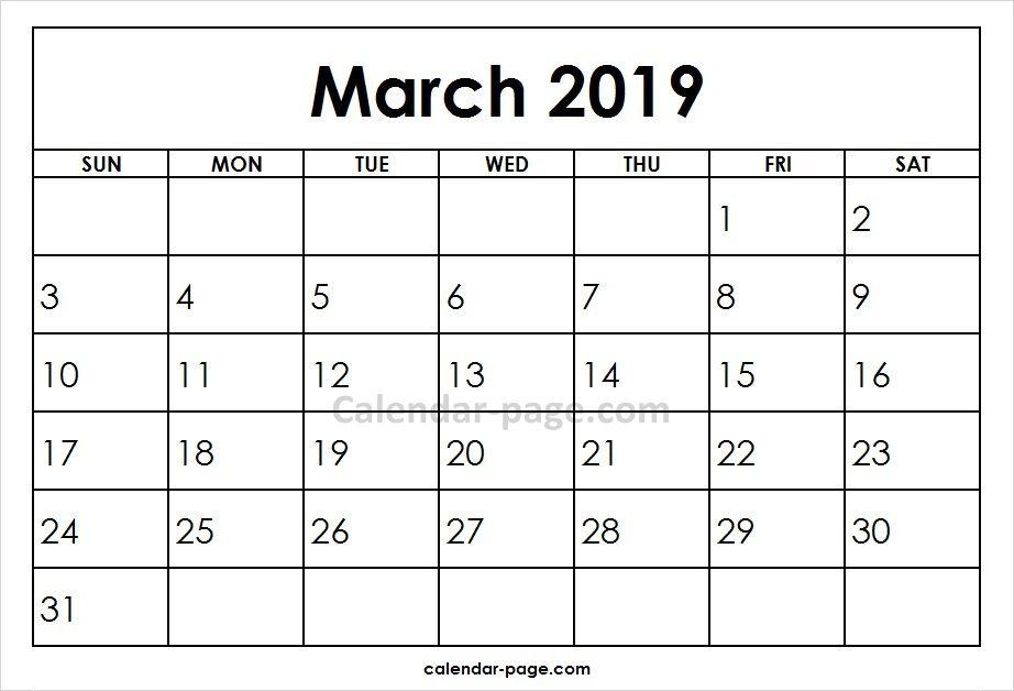 March 2019 Printable Calendar Template Tech Pinterest Calendar