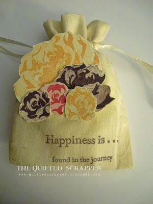 Close to My Heart March Stamp of the Month and Muslin Draw String Bag