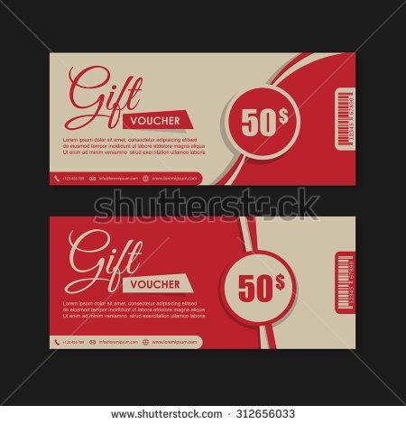 Voucher, Gift certificate, Coupon template. | banners, voucher ...
