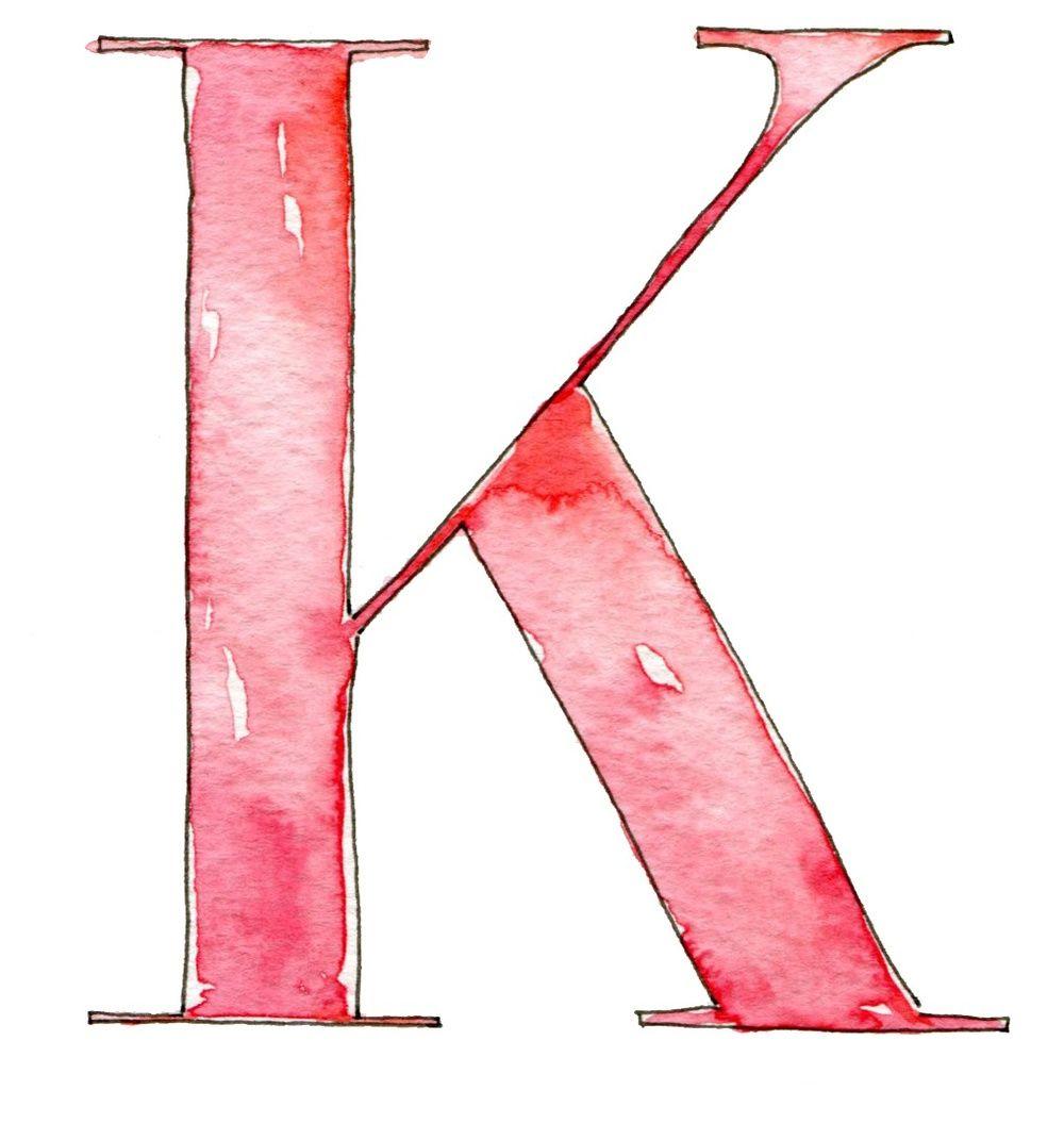Flourish & Whim: new logo // Kindred Event Studio  #letter K #watercolor #calligraphy