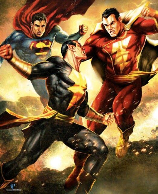 Black Adam Vs Shazam And Superman