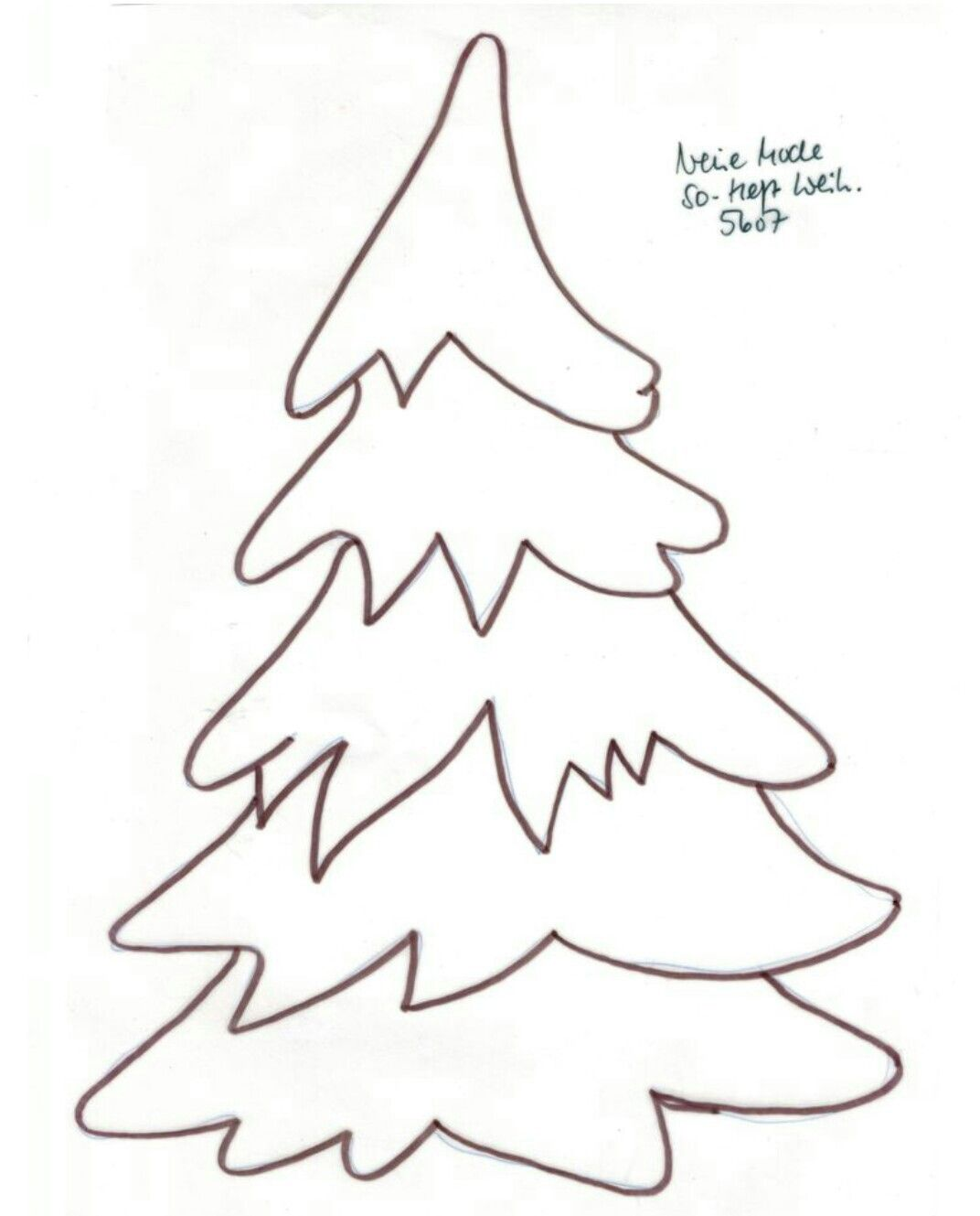 Simple Christmas Tree Coloring Pages   Coloring Pages   Pinterest ...