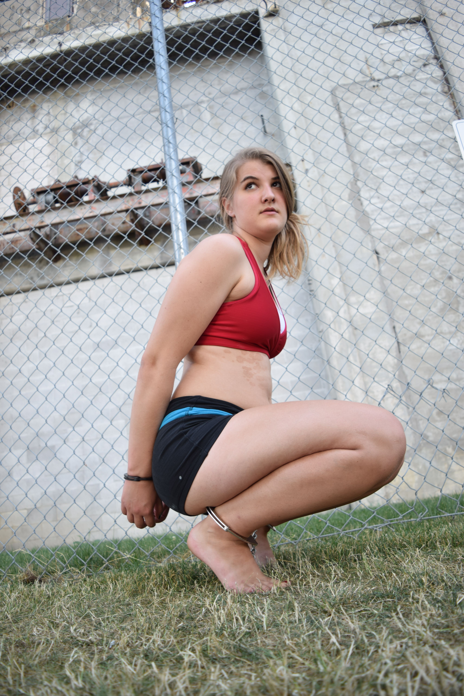 Super hot blonde girls tied up