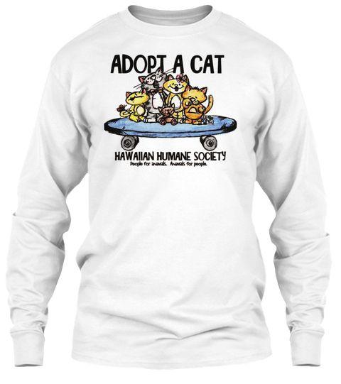 Adopt A Cat Hawaiian Humane Society White TShirt Hawaii
