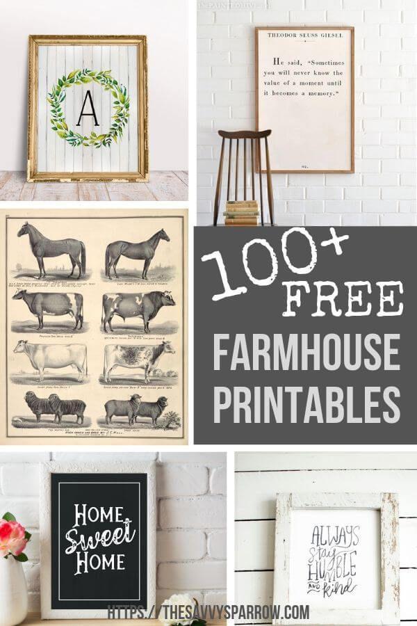 Free Farmhouse Printables for Easy DIY Wall Art | The Savvy Sparrow