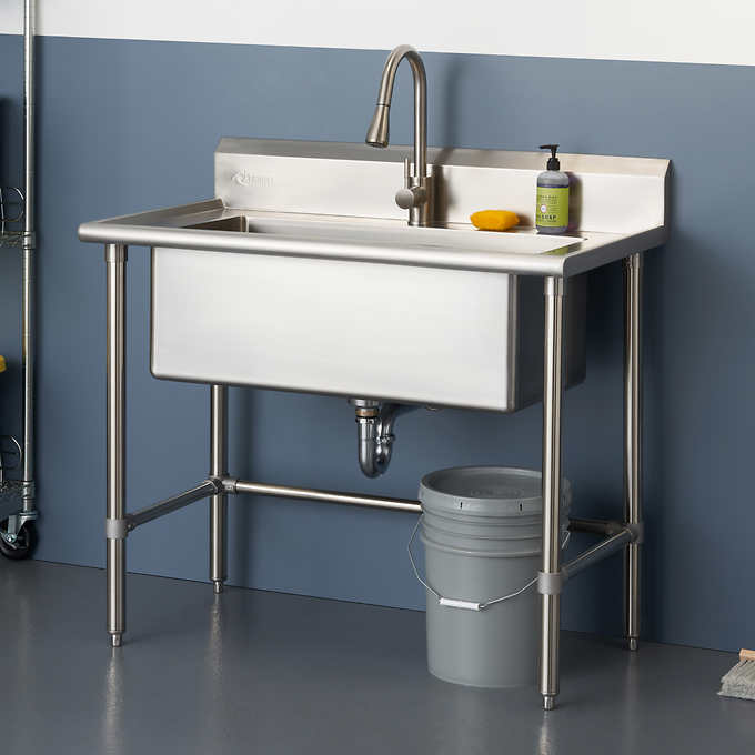 Trinity 32 X16 Stainless Steel Utility Sink Stainless Steel Utility Sink Utility Sink Laundry Room Sink
