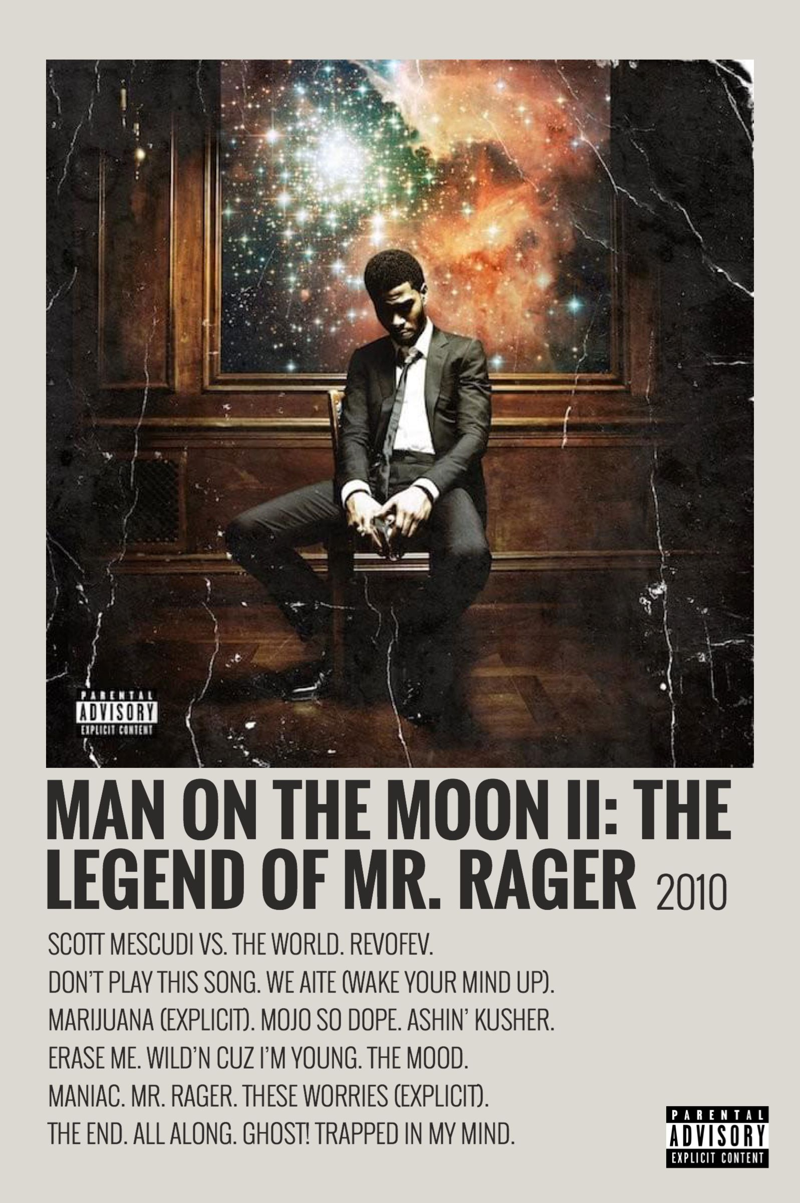 man on the moon by maja music poster
