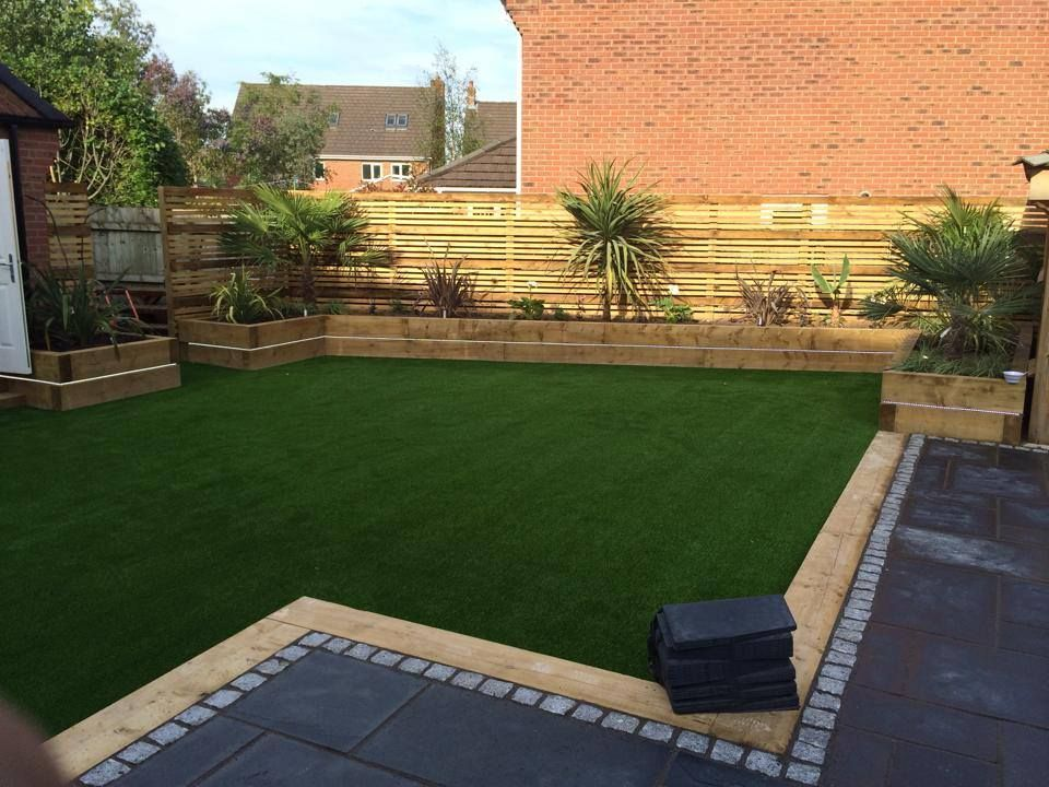 cheshire landcapes completed a large contemporary garden design for a customer in great sankey warrington