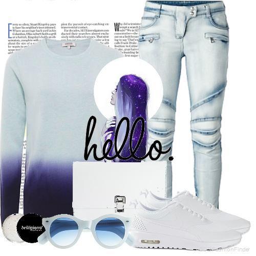 Cool in blue/purple ombre! #womenswear #womensfashion #fashion #ideas #asos #clothes