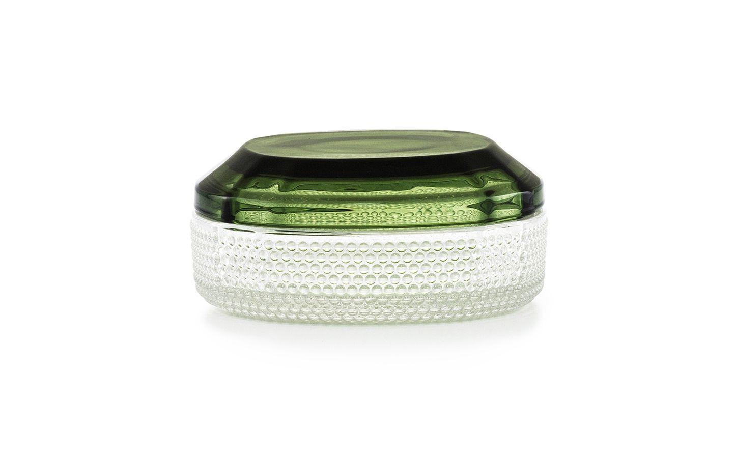 Brilliant Box Large dark green – glass storage boxes inspired by gemstones