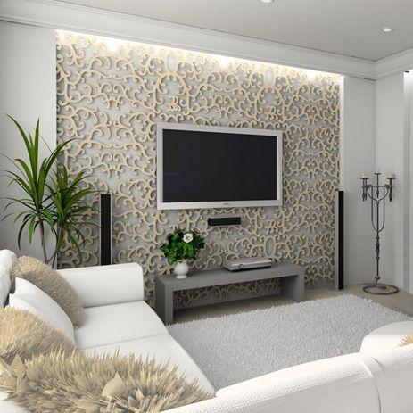 Decoracion de salas con papel tapiz (4 Decoracion de salas, Papel - tapices modernos