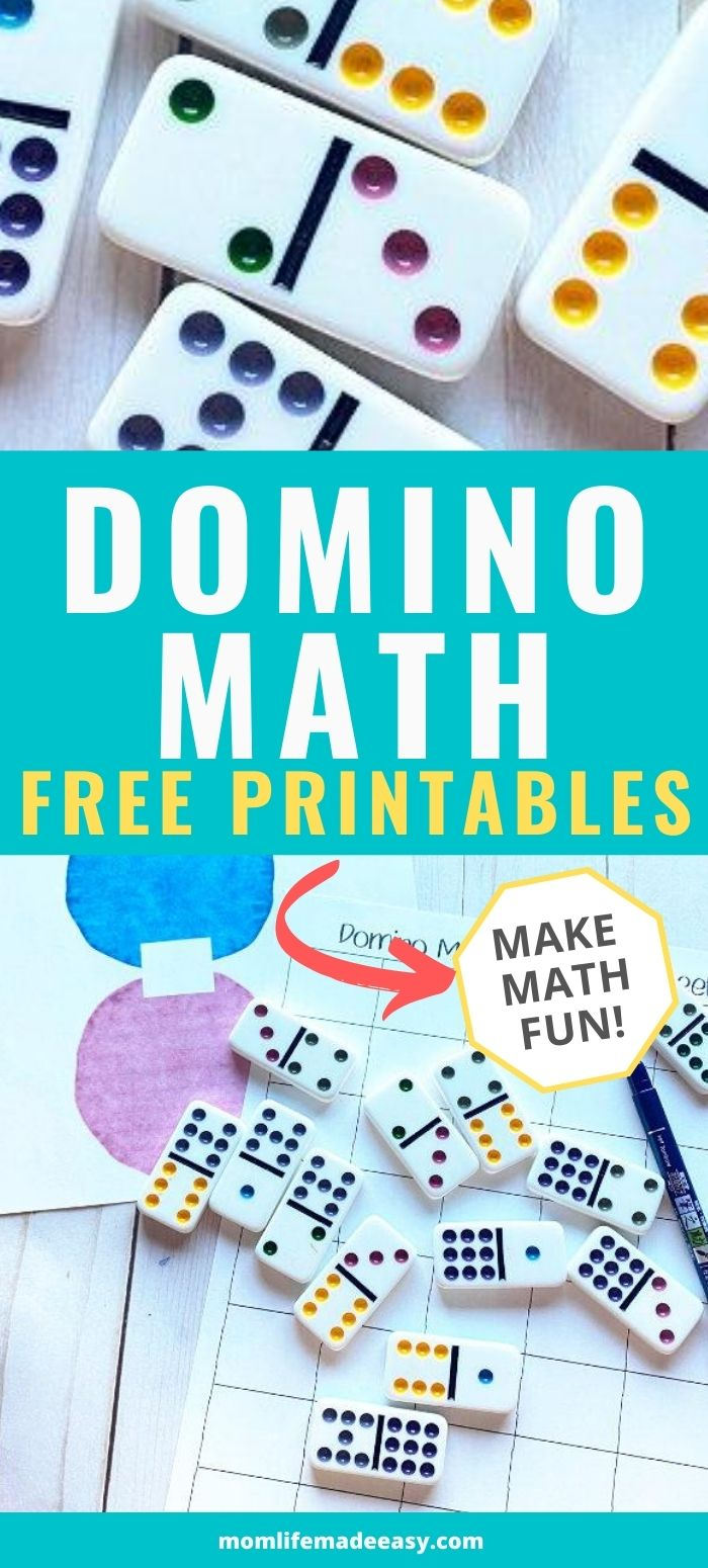 Domino Fun Math Worksheets Mom Life Made Easy Fun Math Fun Math Worksheets Free Math Printables [ 1550 x 700 Pixel ]