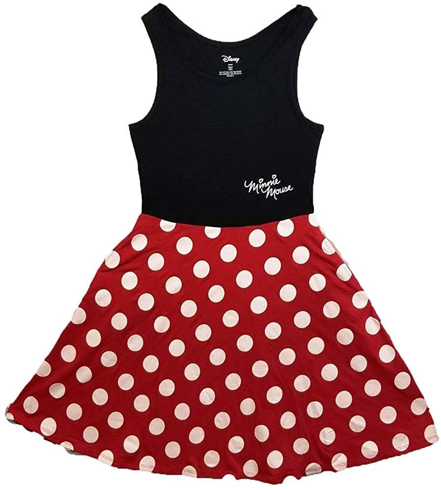 Disney women junior minnie mouse dress red x large
