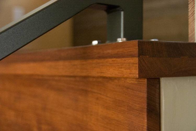 Solid Wood Thick Stair Tread Detail Of #FSC Certified #reclaimed Teak. Www.