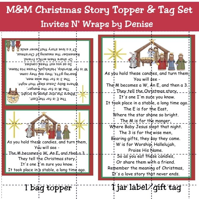 It is a photo of Epic M&m Christmas Poem Printable