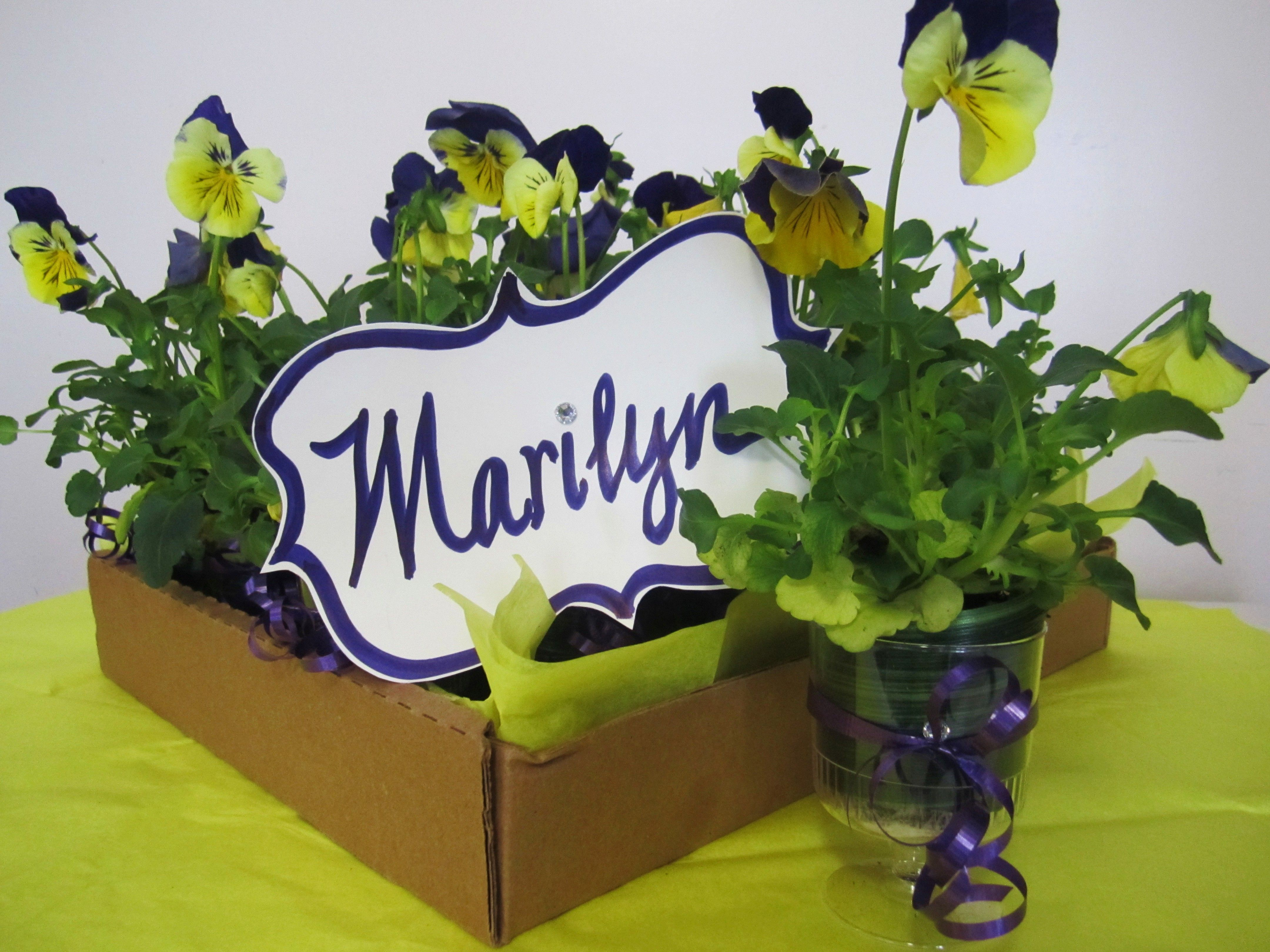 Simple Petunia Favors For A Garden Lover Marilyn S Retirement Party April 17 2013 By Davis Floral Cre Retirement Party Favors Retirement Gifts Party Favors [ 3240 x 4320 Pixel ]