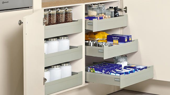 Base Unit With Internal Drawer And Wide Angle Hinge (without Spacer Strips)