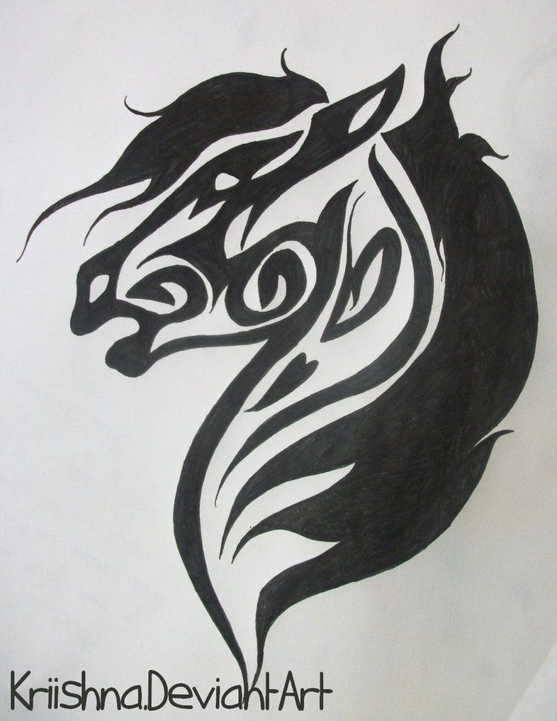 Celtic Greenman Armband: Tribal Horse By Kriishna On DeviantART