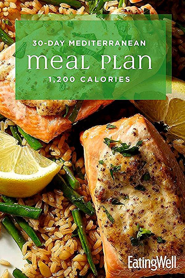 In this 30-day meal plan, we incorporate the principles of the Mediterranean diet with plenty of meal-prep recipes and no-cook breakfast options to make eating healthy and losing weight realistic for busy schedules. At 1,200 calories, this plan should help you lose a healthy 1 to 2 pounds per week. #mealplan #mealprep #healthymealplans #mealplanning #howtomealplan #mealplanningguide #mealplanideas #recipe #eatingwell #healthy