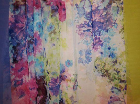 REMANENTEfrontera Floral colorido imprimir por fabricsandtrimmings