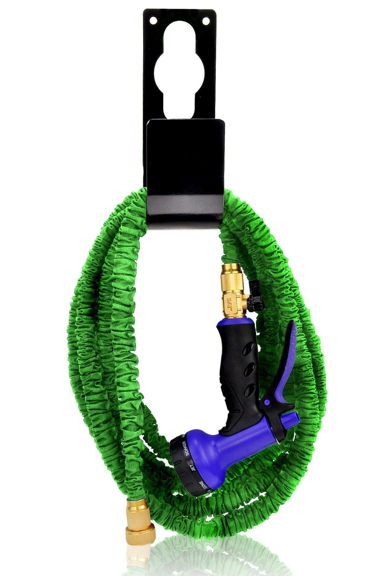 Metal Hose Holder Black Metal hose, Hose holder, Water