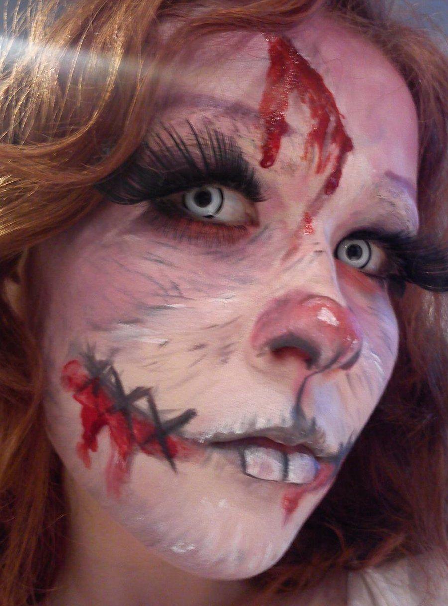zombie rabbit makeup by habbia.deviantart.com on @deviantART ...