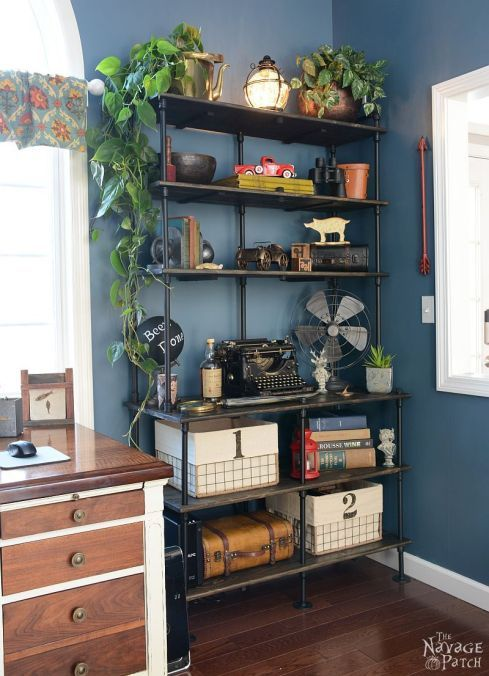 of pipe and pine diy industrial bookcase furniture large diy rh pinterest com