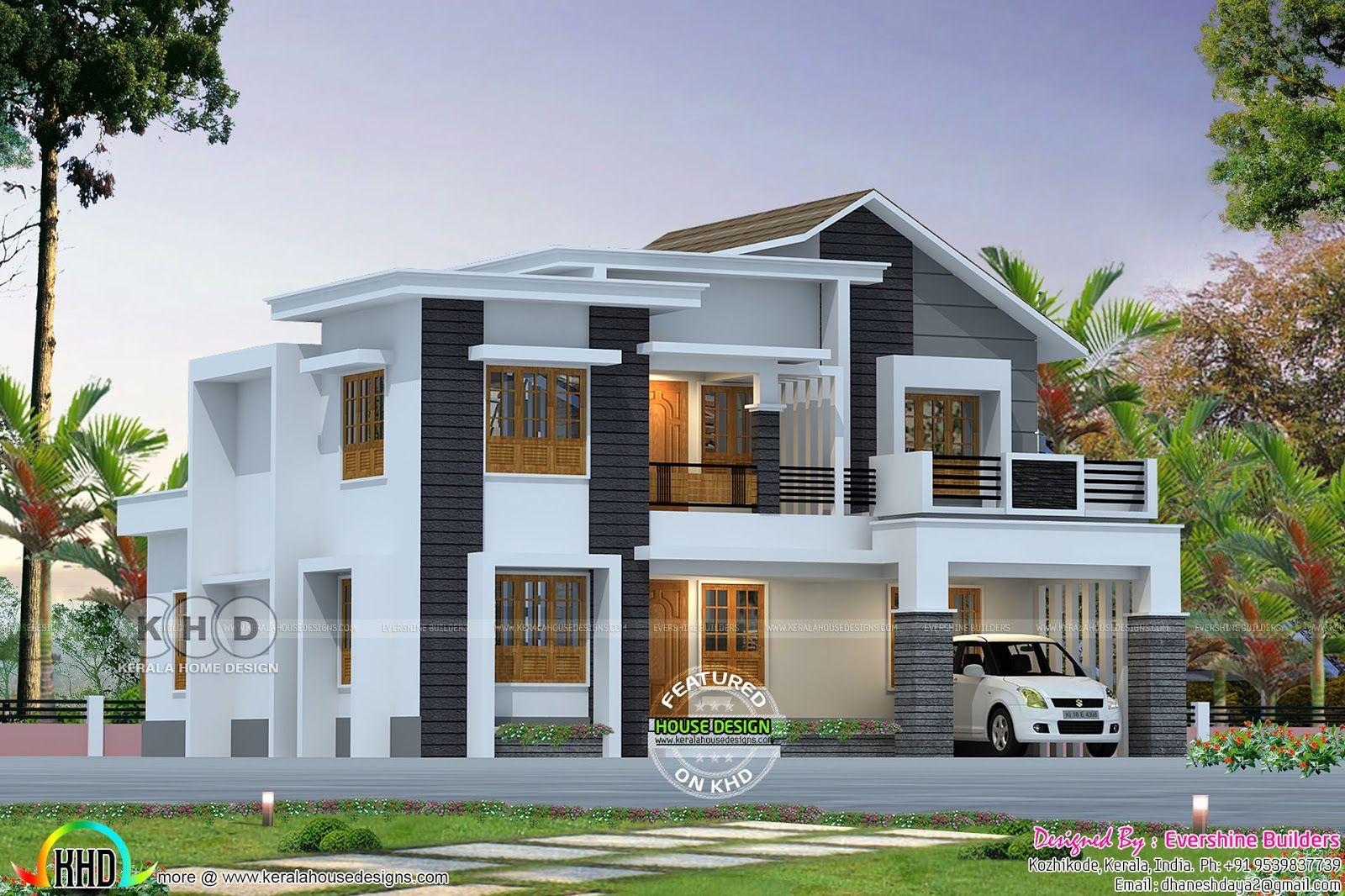 Roman style home plan Kerala home